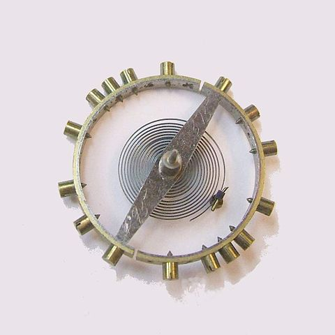 Uhren Köck Technik-ABC Bild Kompensationsunruh