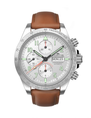 FORTIS CLASSIC COSMONAUTS CHRONOGRAPH STEEL A.M. 401.21.12.L28