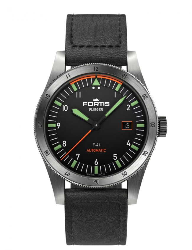 FORTIS FLIEGER F-41 AUTOMATIC AVIATOR LEDERBAND