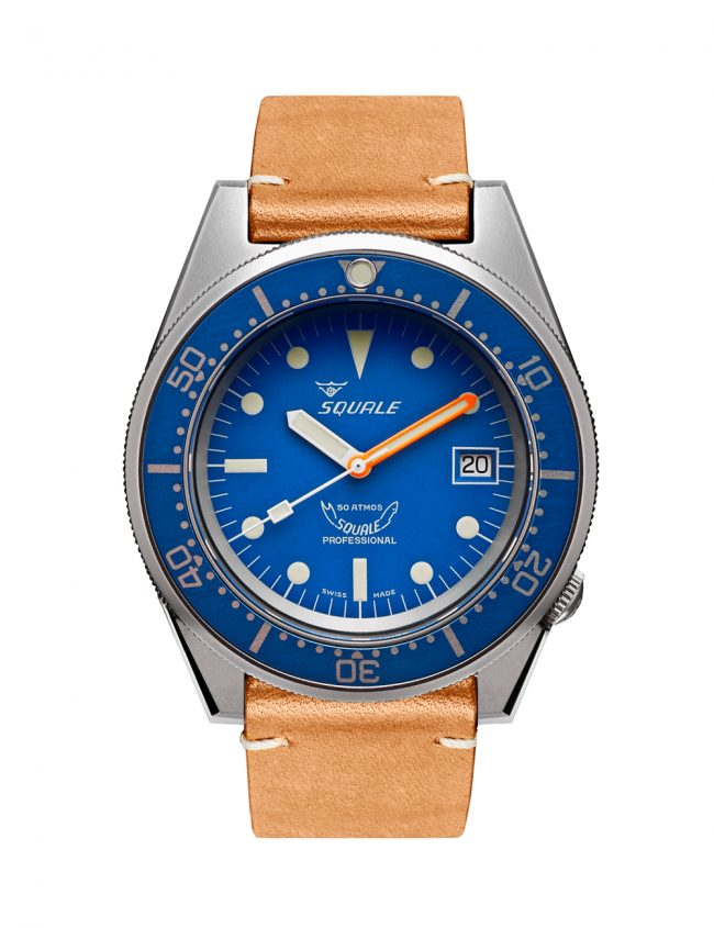 SQUALE 1521 BLUE BLASTED LEATHER 50 ATMOS