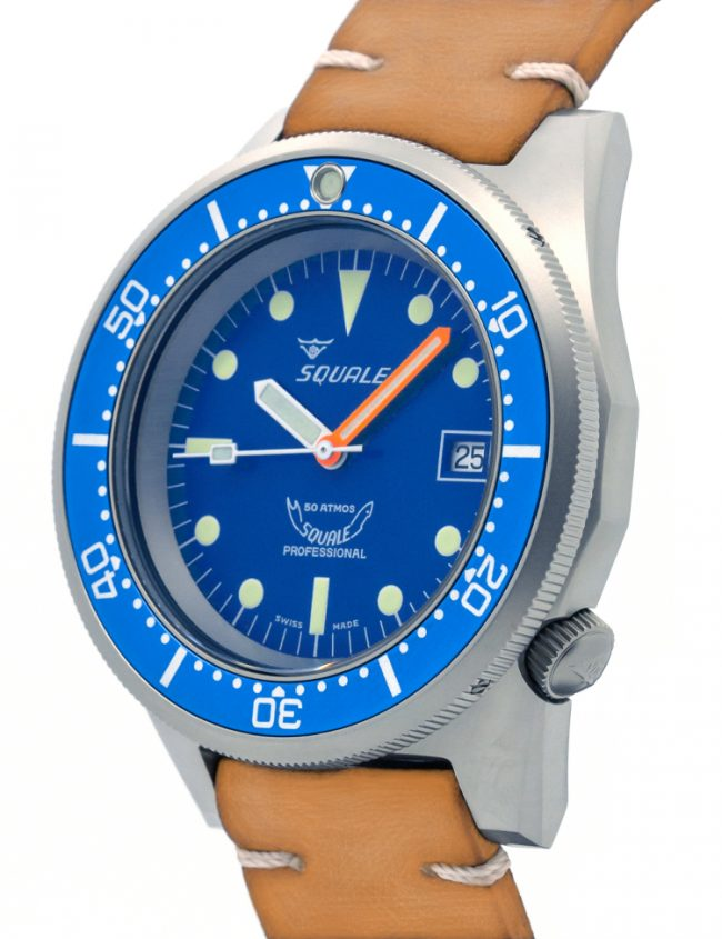 SQUALE 1521 BLUE BLASTED LEATHER 50 ATMOS 1521BLUEBL.PC